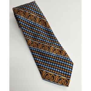 Vintage 1970s style blue and brown Tie